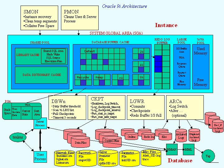 The database for Architecture oracle